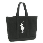 RalphLauren(ラルフローレン) CANVAS WITH SILVER E225PPTP MEDIUM TOTE D.GY トートバッグ【送料無料】