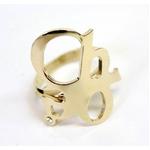 CHLOE(クロエ) 2R0056-AB1-097 CHLOEロゴモチーフリング  gold 48(7-8号)【送料無料】