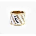 CHLOE(クロエ) 2R0179-AC3-102 クリアラインストーン リング アイボリー×ゴールド  50【送料無料】