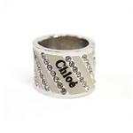 CHLOE(クロエ) 2R0179-AC3-119 クリアラインストーン リング ベージュ×シルバー  48【送料無料】