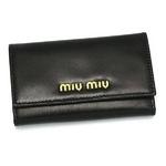 MIUMIU(ミュウミュウ) CAPRETTO BICOLOR5M0222 276 ブラック キーケース【送料無料】