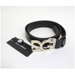 Dolce&Gabbana(ドルチェ&ガッバーナ) BC2504 A6333 80999 ロゴプレートバックル レザーベルト【送料無料】