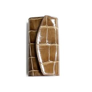 クロコダイル革 6連キーケース CROCODILE 1920 brown - 拡大画像