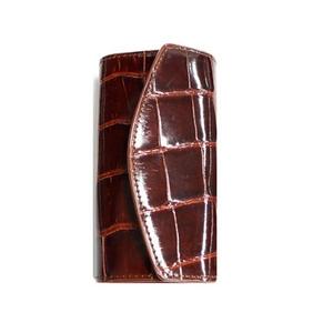 クロコダイル革 6連キーケース CROCODILE 2324 dark brown - 拡大画像