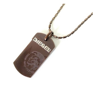 DIESEL(ディーゼル) 2009新作 SS新作 ドッグタグ ネックレス DX0006040 ブロンズ