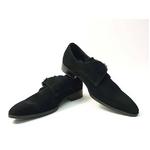 Falchi New York(ファルチ ニューヨーク) FN-008 SWBK 紳士靴 ビジネスシューズ ブラック  スウェードブラック 26.5【送料無料】