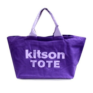 KITSON(キットソン) 3139 ショッピングトートバッグ キャンバス パープル