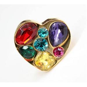 MARC BY MARC JACOBS(マークバイマークジェイコブス) Gem Heart Ring 73656 ゴールド×マルチ リング