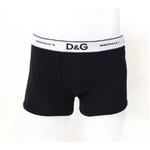 D&G(ディーアンドジー) メンズアンダーウェア 3枚セット M80015-O0031-N0000  Sサイズ ブラック【送料無料】