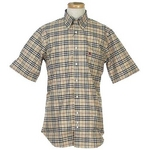 Burberry(バーバリー) N SUSSEX M/C CAMEL メンズシャツ 3【送料無料】