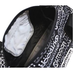 OUTDOOR(アウトドア) 12429205-60 ミニボストンショルダーバッグ ロゴボーダー ブラック