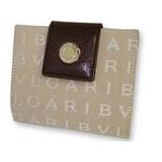 Bvlgari(ブルガリ) 2つ折り財布 ベージュ 22251 2009新作