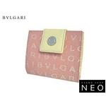 Bvlgari(ブルガリ) ロゴマニア 2つ折り財布 ピンク 22252 2009新作【送料無料】