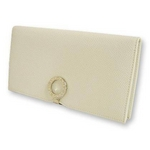 Bvlgari(ブルガリ) 2つ折り長財布 (小銭入れ無し) ホワイト 23292 2009新作【送料無料】