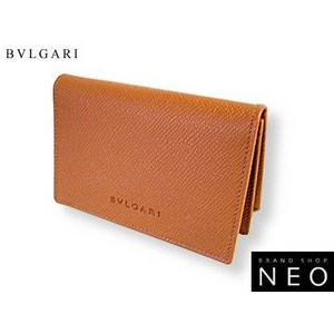 Bvlgari(ブルガリ) 名刺入れ・カードケース キャメル 20357 2009新作