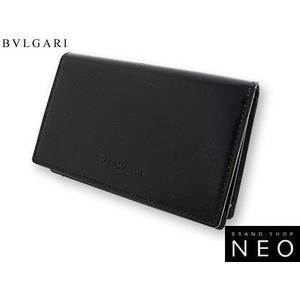 Bvlgari(ブルガリ) カードケース 2つ折り名刺入れ ブラック 20359 2009新作