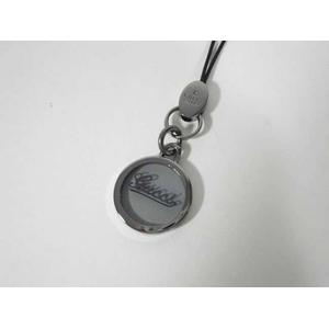 Gucci(グッチ) 携帯ストラップ ブルー×ガンメタ、シースルー 170764 J163R 1664 2009新作