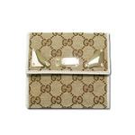 Gucci(グッチ) GGキャンバス Wホック財布 ベージュxホワイト 181896-FAFXG-9761 2009新作【送料無料】