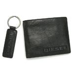 DIESEL(ディーゼル) 2つ折り財布 キーリングセット00XC99-PR522-T8013レザー ブラック超 2009新作【送料無料】