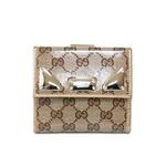 Gucci(グッチ) GGキャンバス Wホック財布ベージュx ゴールド 181896-FTOGG-9774 2009新作【送料無料】