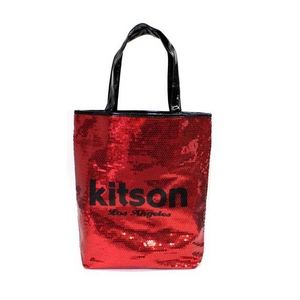 61f3e5e538b7 KITSON(キットソン) スパンコール トートバッグ レッド SEQUIN-TOTE2 3294 2009新作