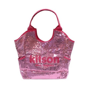 KITSON(キットソン) スパンコール トートバッグ SEQUIN TOTE 3156 アクア ピンク 2009新作 - 拡大画像