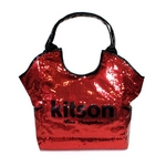 KITSON(キットソン) スパンコール トートバッグ SEQUIN TOTE 3292 レッド 2009新作【送料無料】