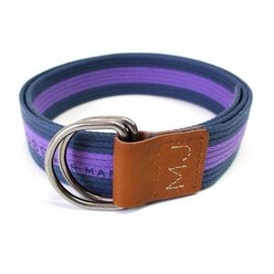 MARC BY MARC JACOBS(マークバイマークジェイコブス) Stripe Belt Cotton 95321 ストライプ ベルト コットン Navy/Purple