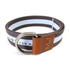MARC BY MARC JACOBS(マークバイマークジェイコブス) ベルト Stripe Belt Cotton 96365 ストライプ コットン Brown/Blue