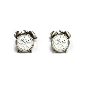 Cuffs(カフスボタン) カフリンクス 目覚まし時計 Unique Alarm Clck Pewter Cufflinks 2009新作