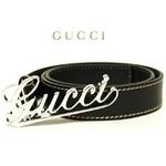 Gucci(グッチ) ベルト 181830-A2PON-1000 2009新作 90cm【送料無料】