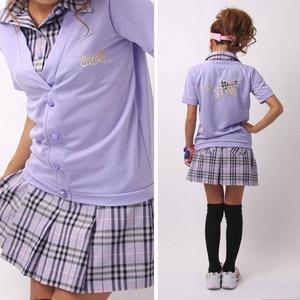 BLUE CRUSH(ブルークラッシュ) レディース ゴルフウエア 半袖リボン入り上下セット 半袖カーデタイプ スカート 500091 Lサイズ ブラックの写真2