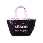 KITSON(キットソン) トートバッグ 0 SEQUIN MINI TOTE ミニスパンコール 2009新作 ブラック×ピンク(3554)