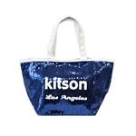 KITSON(キットソン) トートバッグ 0 SEQUIN MINI TOTE ミニスパンコール 2009新作 ネイビー(3559)