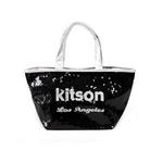 KITSON(キットソン) トートバッグ 0 SEQUIN MINI TOTE ミニスパンコール 2009新作 シルバー×ブラック(3564)