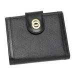 Bvlgari(ブルガリ) 25215ドッピオトンドダブルホック財布ブラック×ゴールド【送料無料】