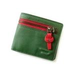 DIESEL(ディーゼル) 二つ折り財布00XG66-PR529-H2085グリーン×レッド
