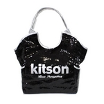 KITSON(キットソン) スパンコール トートバッグ 3317 SEQUIN TOTE ブラック【送料無料】