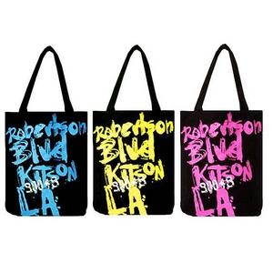KITSON(キットソン) グラフィックロゴプリント トートバッグエコバッグ  イエロー(KHB0154)