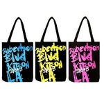 KITSON(キットソン) グラフィックロゴプリント トートバッグエコバッグ ピンク(KHB0153)