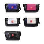 mobus モーブスターポリン MO-014 スモールサイズ  メッセンジャーバッグ ブラック×ピンク