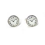 カフリンクス カフスボタン 時計(文字盤)カフス Watch or clock face photostone Cufflinks