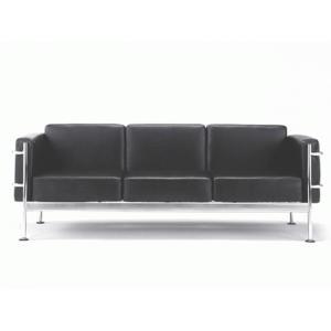 GRANDComfortソファ・3人掛 ブラック - 拡大画像
