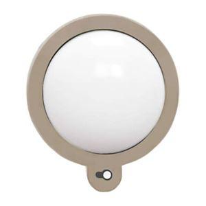 アイリスオーヤマ 電池式ガーデンセンサーライト 壁付灯 丸型 ZSL-MK グレー - 拡大画像