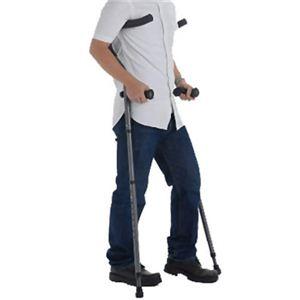 折りたたみ松葉杖 ミレニアル・プロ チャコールグレー トール2本組