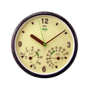 クレセル エコロジー 時計・温度計・湿度計 TC-016E - 拡大画像