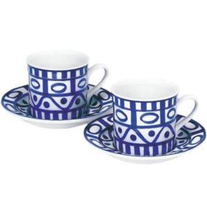 DANSK (ダンスク) アラベスク ペア コーヒーカップ&ソーサー 539490