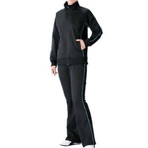 チタン着やせサウナスーツ ブラック×サックス M