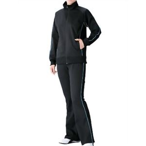 チタン着やせサウナスーツ ブラック×サックス L1