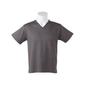 Deol(デオル) VネックピケTシャツ グレー Lサイズ